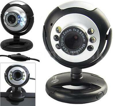USB 6 LED 50 Mega Pixel HD Webcam Camera With MIC Microphone For PC Laptop D1L4