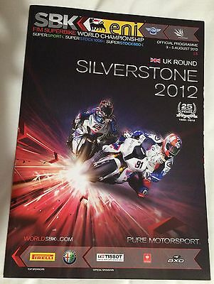 Fim Superbike World Championship Official Programme Silverstone 2012
