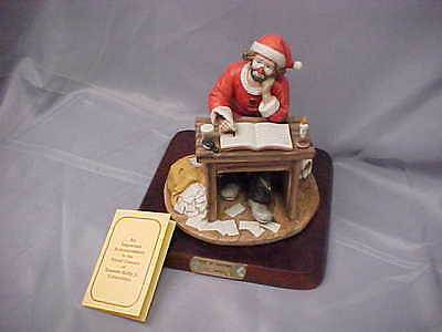Flambro Emmett Kelly Jr Signature Collection SPIRIT OF CHRISTMAS IV Ltd ed stand