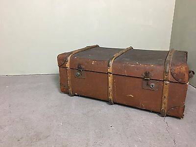 Vintage Steamer Travel Bentwood Trunk