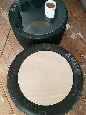 F1 tyre Coffee Table mancave footstool/poof etc
