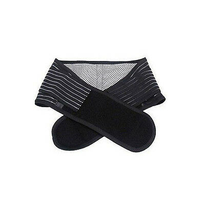 Magnetic Double Pull Self Heat Lower Back Brace Belt Lumbar Support Pain Relief
