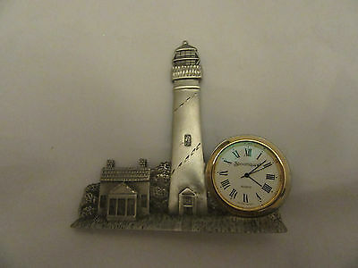 Pewter Lighthouse Clock