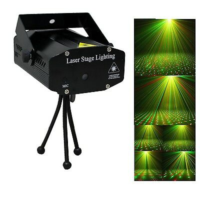 Mini LED R & G Stage Laser Projector Lighting Disco Party DJ Club Light
