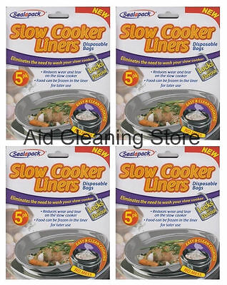 40 Slow Cooker Liners - Pack of 8 x 5 Packs - Free Delivery