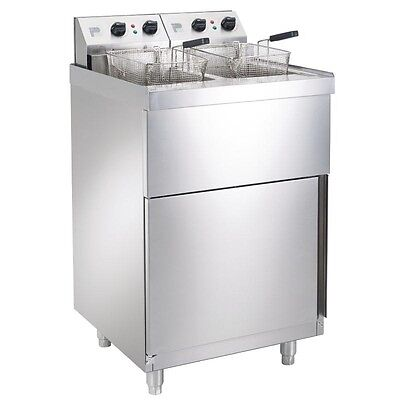 Parry NPDPF6 Twin Tank Electric Pedestal Fryer Catering