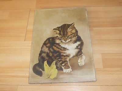 An Antique Oil Painting of a Cat c1910/20