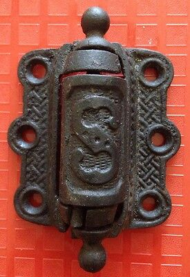 Antique Screen Door Hinge Spring Loaded Cast Iron Circa 1900's w an S works