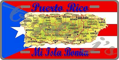 puerto rico license plate MAP & FLAG