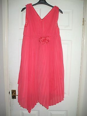 Girls Coral Dress Age 12-13 From Monsoon