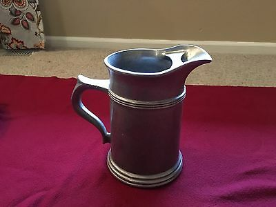 Vintage Wilton Armetale Pewter Pitcher with Ice Lip
