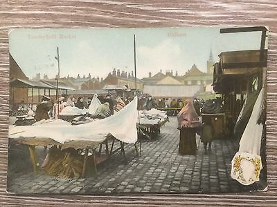Oldham, Tommyfield Market, Antique Postcard, The Milton Picture