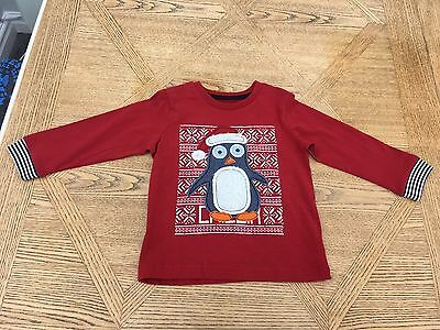 Baby Boys Christmas Penguin Top Size 12-18 Months Bnwt