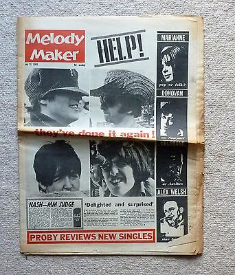 Melody Maker July 31, 1965  The Beatles, Donovan, Brian Epstein