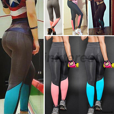 Fashion Womens Sports Yoga Running Fitness Pants Gym Legging Active Trouser Y326