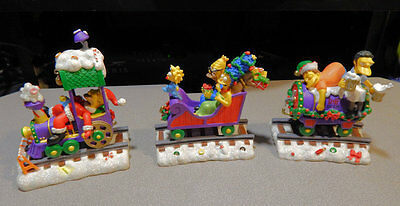 LOT OF 3 THE SIMPSONS CHRISTMAS EXPRESS COLLECTION TRAIN 1st 3 CARS
