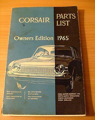 Corsair Parts List Owners Manual 1965