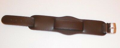 Quality 20mm Vintage Military Style Leather Watch Strap - Black or Brown