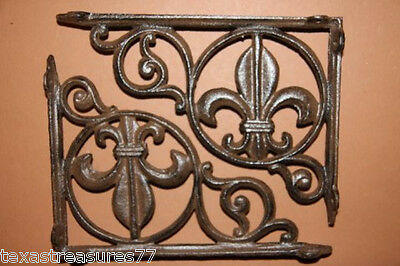 (10), Fleur De Lis, Shelf Bracets, French Lily, New Orleans, Saints, B-3