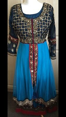 Ladies Shalwar Kameez - Blue - Size Small