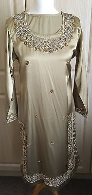 Ladies Shalwar Kameez - Gold - Size Small