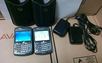 lot of 2 Working Blackberry 8320 W/case & Charger & batteries