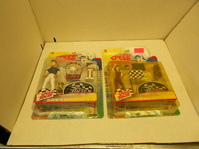 Lot of 2 Speed Racer Series One Action Figures: Trixie & Speed Racer