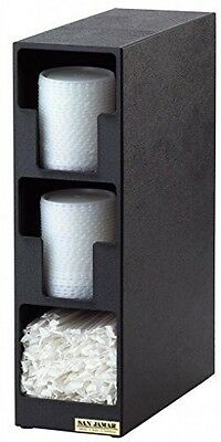San Jamar L2202 Polystyrene Dimension Lid Towel Dispenser with 2 Lid and 1 Straw