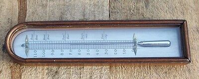 Good Antique  19th century Barometer Thermometer
