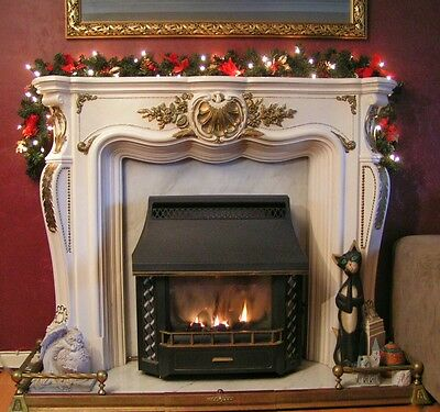 Lit 1.8m Red Swag Stairs Fireplace Christmas Garland 6ft  With 40 Lights