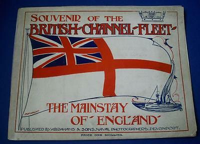 Edwardian Souvenir British Channel Fleet Mainstay of England Naval Photographs