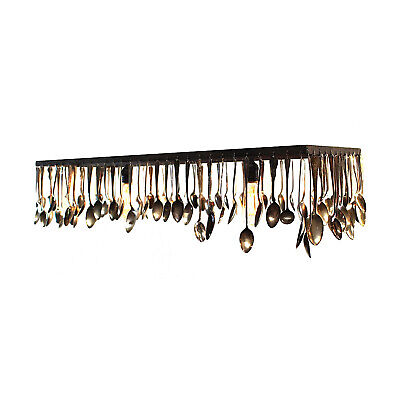 Antique Silver Spoons Turned into Chandelier Ceiling Fixture Custom Made • CAD $1,131.26