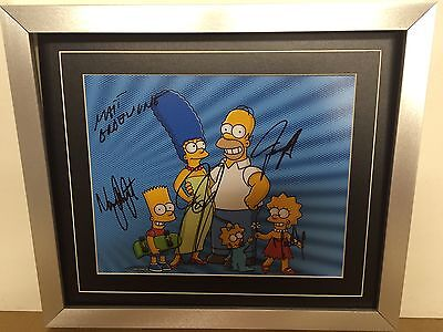 Simpsons Cast Genuine Hand signed Photograph & COA