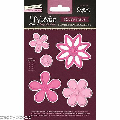 Crafters Companion Die'sire Dies - Flowers For All Occasions 2 - Daisies -New In