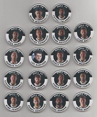 HULL  FC  Challenge cup Final winners 2016 squad BADGES X18