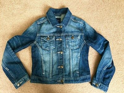 Girls GAP Blue Denim Jacket - Age M 8/9 Yrs
