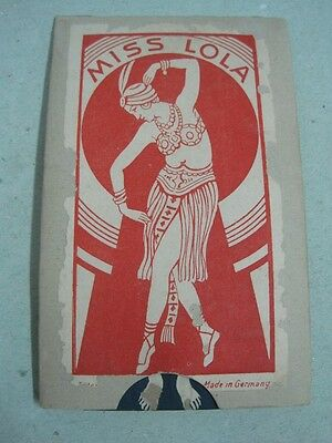 Antique Toy Cardboard tightening finger halloween MISS LOLA made in Germany