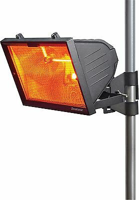 Knightsbridge IP24 1300W Outdoor Patio Infrared Heater with RS7 1300W Tube Black