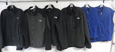 Lot Of 7 Fleece Jackets & Vests North Face & 1 Vtg Patagonia Deep Pile Med-Xl