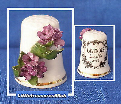 China Applied Herb Flower Thimble.....lavender