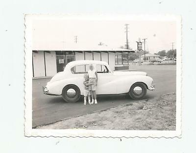 1953 Sunbeam Talbot 90 Car Automobile Polaroid Photo Norwalk Ca Taken 1957