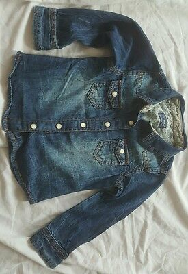 next girls denim shirt. 3 years old. used in good condition.