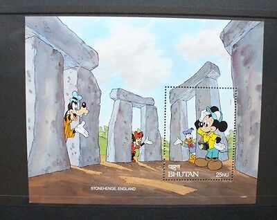 BHUTAN 1991 Disney Wonders of the World Stonehenge. SOUVENIR SHEET MNH SGMS929N