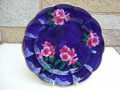 George Jones Rare Imperial Rouge Blue & Pink Floral Plate B