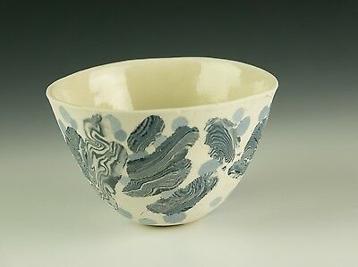 Alison Taylor (1928-2015) Bowl With Interesting Blue Inlaid Design