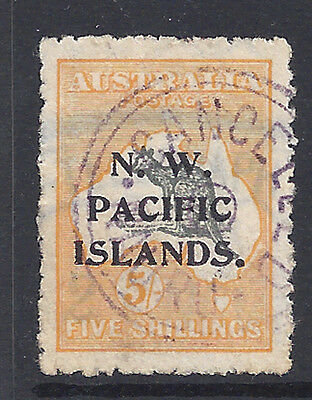 North West Pacific Islands NWPI Stamp 1915 5sh Roo (SG92) Used £110