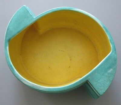 Vintage Art Deco China Bowl Green/Yellow Stamped