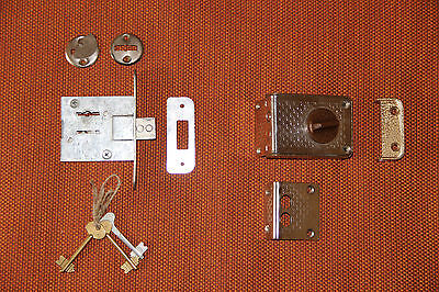 Mortise lock USSR. Lot of 2 locks. lock with keys (3 pieces) + lock (no key)