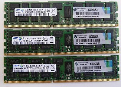 24GB (3x8GB) DELL Precision R5500 T5500 T7500 PC3-10600R DDR3 1333MHz ECC