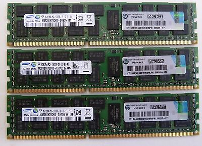 24GB (3x8GB) DELL Precision R5500 T5500 T7500 PC3-10600R DDR3 1333MHz